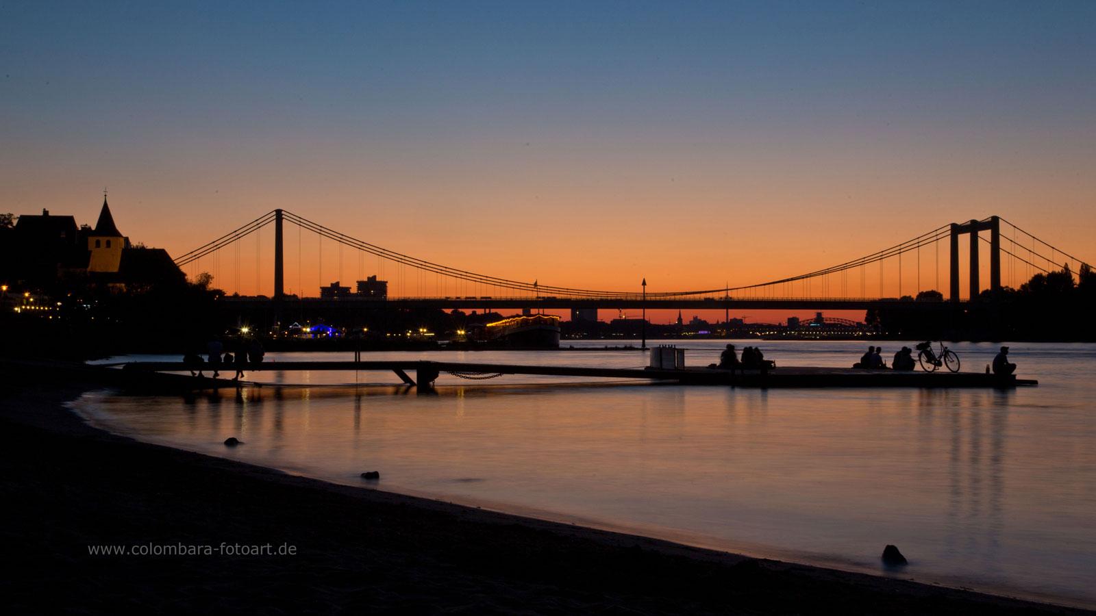 Sonnenuntergang in Köln Rodenkirchen