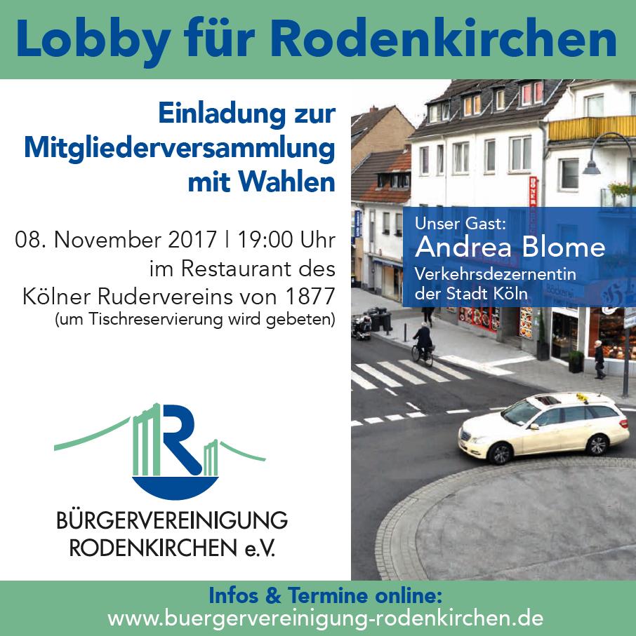 Mitgliederversammlung 8.11.2017: Verkehrsdezernentin Andrea Blome zu Gast