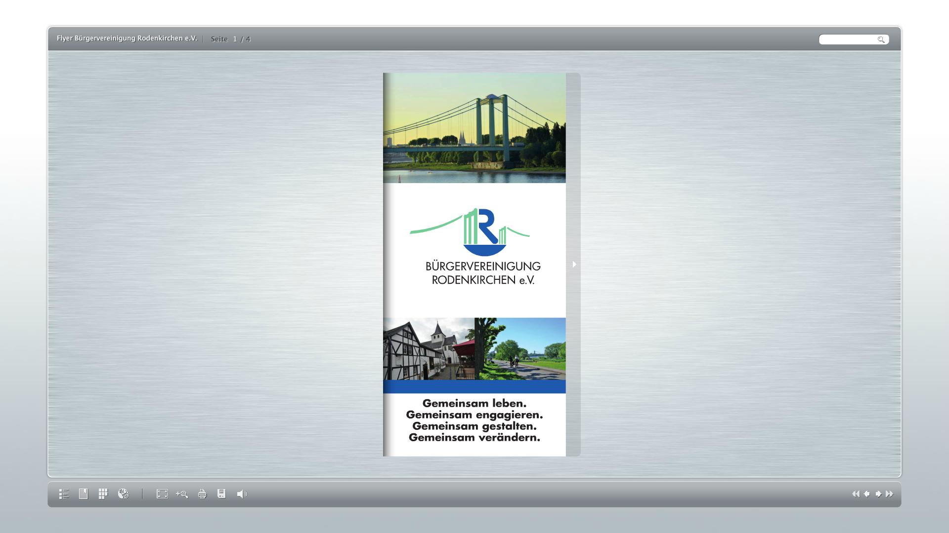 Flyer der Bürgervereinigung Rodenkirchen