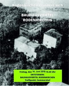 Bauhausviertel in Rodenkirchen mit Cornelius Steckner am 14.6.19