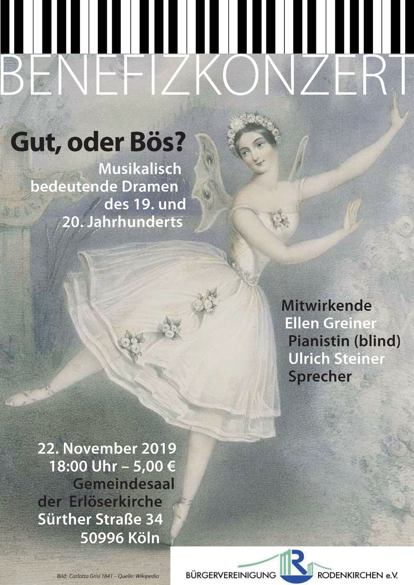 "Benefizkonzert ""Concert de Sens"" am 22. November in Rodenkirchen"