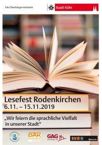 Das Lesefest in Köln Rodenkirchen findet vom 6. bis 15.11.2019 statt