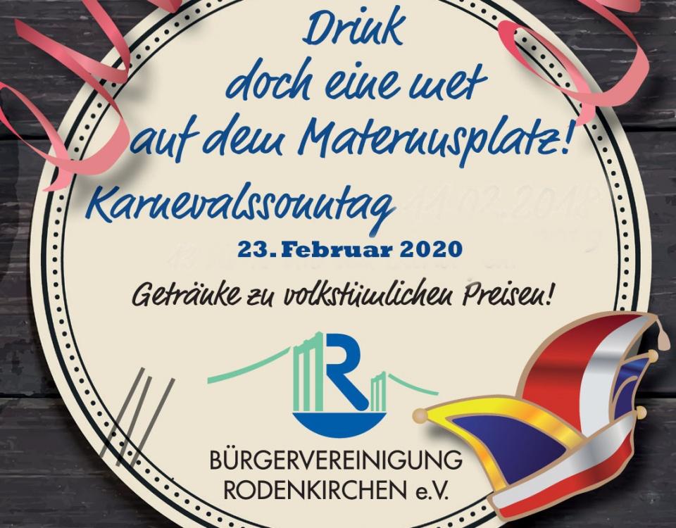 Bierwagen des Bürgerverein Rodenkirchen am Karnevalsonntag