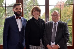 Konsul Jakub Wawrzyniak, Oberbürgermeisterin Henriette Reker und Dieter Maretzky auf dem Neujahrsempfang 2020