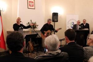 Das Duo Bridges sorgte für die Musik auf dem Neujahrsempfang 2020 der Bürgervereinigung Rodenkirchen