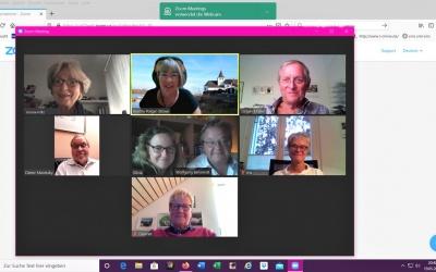 Vorstandssitzung per Zoom bei der Bürgervereinigung Rodenkirchen wegen Corona