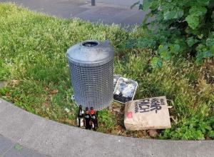Müll am Rhein in Rodenkirchen