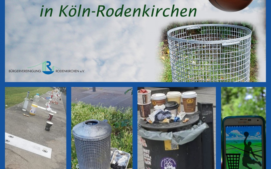 Video-Wettbewerb #TrashDunkingRoki in Instagram gegen Müllsünden im Bezirk Rodenkirchen