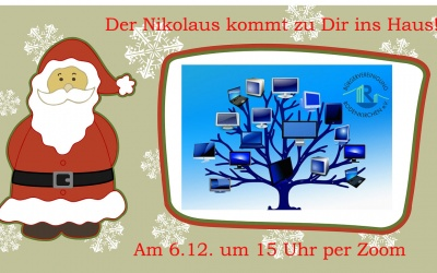 Der Nikolaus kommt zu Dir per Zoom ins Haus! Kinder-Videochat in Rodenkirchen am 6. Dezember