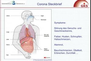 Der Corona-Steckbriefzeigt die möglichen Symptome