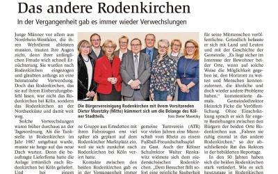 Zwei Rodenkirchen an Rhein und Weser: Verwechslung nicht ausgeschlossen!