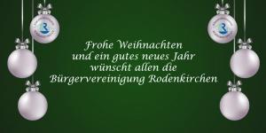 Frohe Weihnachten von der Bürgervereinigung Rodenkirchen