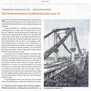Geschichtswerkstatt 2016 Dr. Cornelius Steckner zum Bau der Rodenkirchener Brücke
