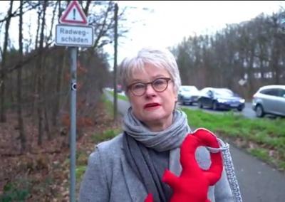 Iris Ebel-Philippi wünscht sich bessere Radwege