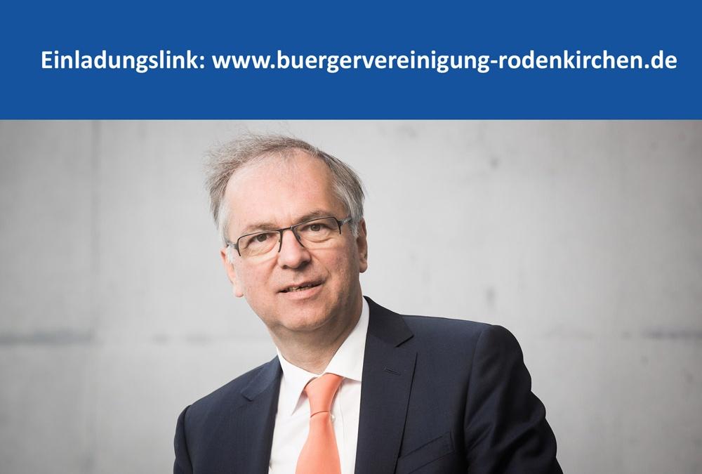 Digitaler Bürgertreff mit Bundestagsabgeordneten Professor Hirte am 16. März