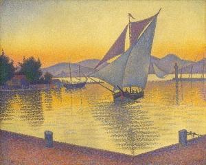 Paul Signac, Der Hafen bei Sonnenuntergang