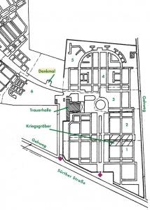 Lageplan Neuer Friedhof Sürther Straße